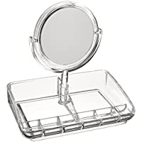 Mind Reader Acrylic Jewelry Organizer With Mirror, Clear