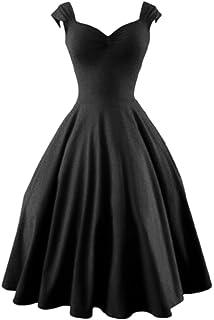 Women s Vintage Años 50 Hepburn Bengala Fit Y Una Linea De Vestido De Noche