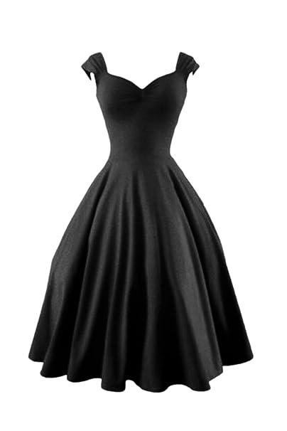 Women s Vintage Años 50 Hepburn Bengala Fit Y Una Linea De Vestido De Noche: Amazon.es: Ropa y accesorios
