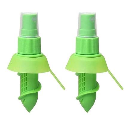 Ogquaton 2 UNIDS Creativo Exprimidor de Limón Exprimidor de Limón Spray Plástico Rociador de Jugo de