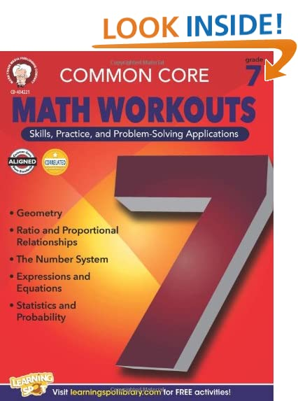 Counting Number worksheets grade 7 math probability worksheets : Common Core Math Grade 7: Amazon.com