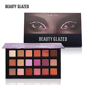 Beauty Glzaed 10 Colors of Smokey Eyeshadow Palette Matte & Pigment Glitter Shimmer Makeup Contour Metallic Eyeshadow Palette B0753D9ZYK