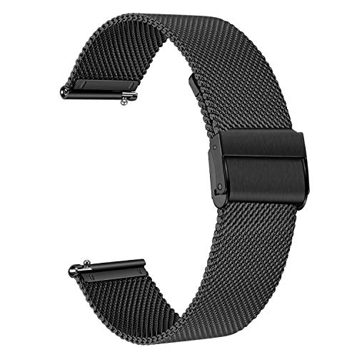 TRUMiRR Watchband for Fossil Men's Gen 5 Carlyle/Women's Gen 5 Julianna, Mesh Woven Stainless Steel Watch Band Quick Release Strap for Fossil Men's Gen 4 Explorist HR/Gen 3 Q Explorist (Watch Mm Fossil 22 Band)