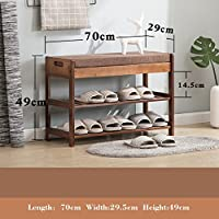 Shoe Bench Free StAnding Organizing Rack Shoe Storage Racks Seat For Closet Bedroom Kitchen Entry,Bedroom And Hall Way Bench With Leather Upholstery Seat Cover-702949cm