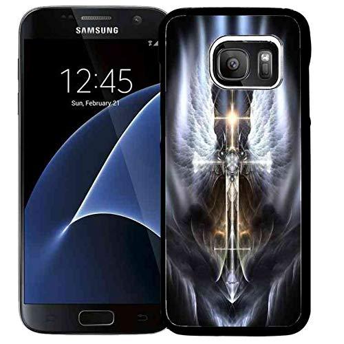 Galaxy S7 Phone Cover,Galaxy S7 Christ Cross Case Samsung Galaxy S7 Slim TPU Catholic Crucifix Case Easter Crucifixion Ultra Slim Back Cover Case for Samsung Galaxy S7