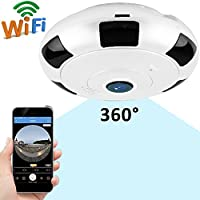 GBD Wireless Home Security IP Camera 360 Degree Panoramic WIFI Cameras Super Wide Angle Support IR Night Motion Detection Pet Safe Surveillance System