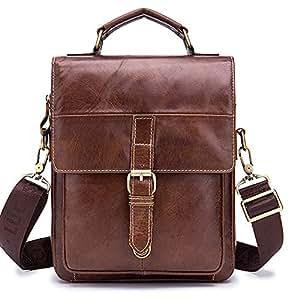 Chest Backpack,Outdoor Sling Bag,Vintage Leather for Men,Crossbody Shoulder Daypack Travel Camping Tactical Daypack,Brown