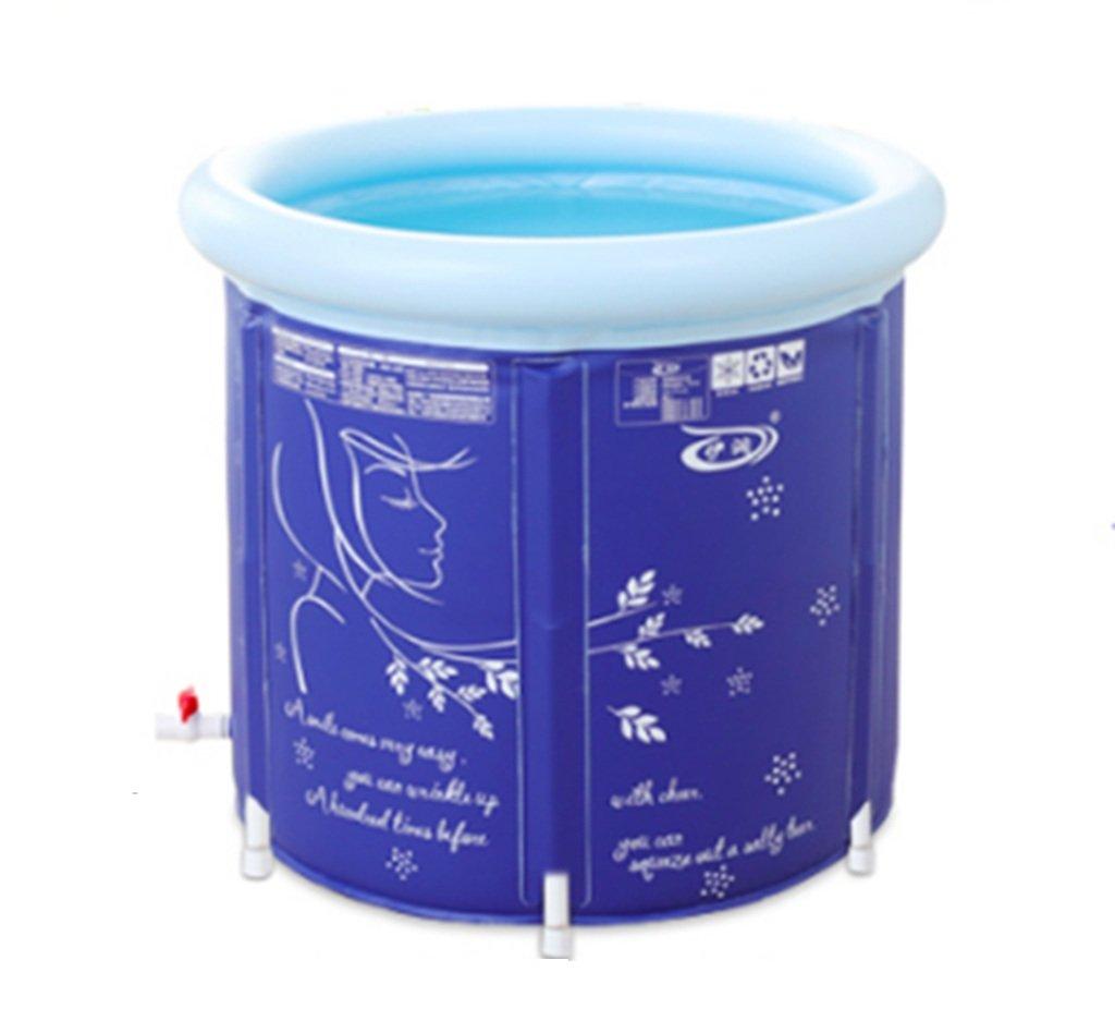 CQYGZHL Aufblasbare badewanne, Haushalt Bath Barrel Erwachsene zusammenklappbar Bad fass Kunststoff badewanne frei aufblasbare verdickung Badewanne (größe   75  75cm)