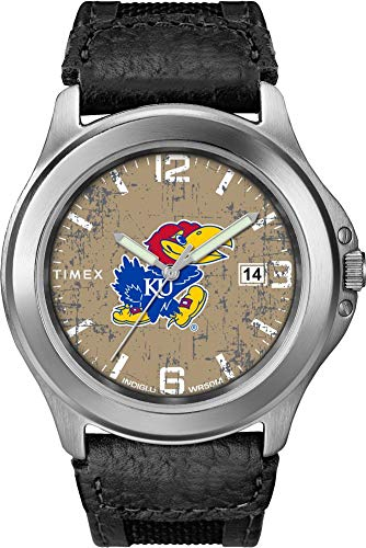 Kansas Jayhawks Watch - Timex Men's Kansas Jayhawks KU Watch Old School Vintage Watch