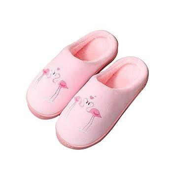FANQIANNAN Zapatillas De Casa De Invierno Zapatillas De Casa De Flamingo Lindas Zapatillas Antideslizantes: Amazon.es: Deportes y aire libre