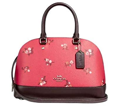 35967fc4f696 Image Unavailable. Image not available for. Color  COACH F31355 Mini Sierra  Satchel Baby Bouquet Print Bright Red ...