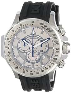 Chase-Durer Men's 380.2SS-RUBB Firestorm Chronograph Stainless Steel Rubber Strap Watch