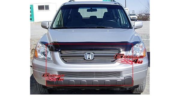Fits 2003-2005 Honda Pilot Billet Grille Combo