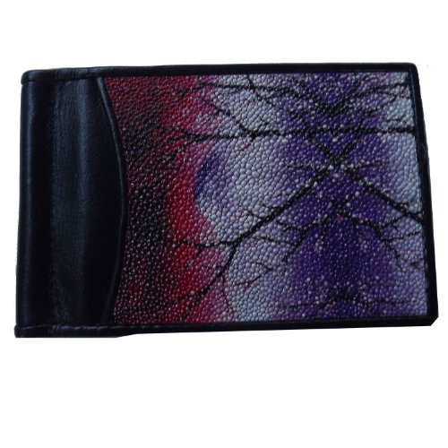 Cash Men's Genuine with Outside Collection Photo and Stingray Pocket Clip Window Wallet ErrqCB