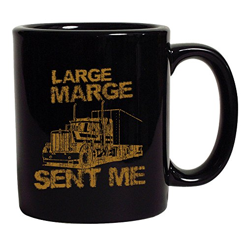 Large Marge Sent Me Truck TV Bicycle Thieves Funny Parody 11 Oz Black Mug