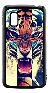 HeartCase Hard Case for Google Nexus 4 LG E960 ( Tiger Roar Cross Hipster Quote )