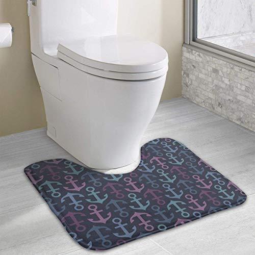 casually Anchor Funny Bath Mat Toilet Carpet Doormats Floor Rug for Bathroom Toilet 19.2″x15.7″