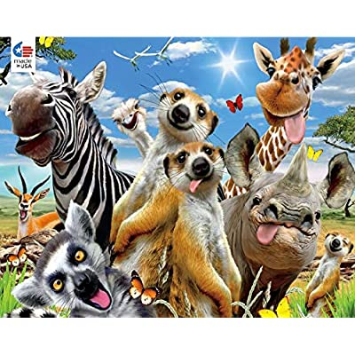 Ceaco African Sun Selfies Jigsaw Puzzle: Toys & Games