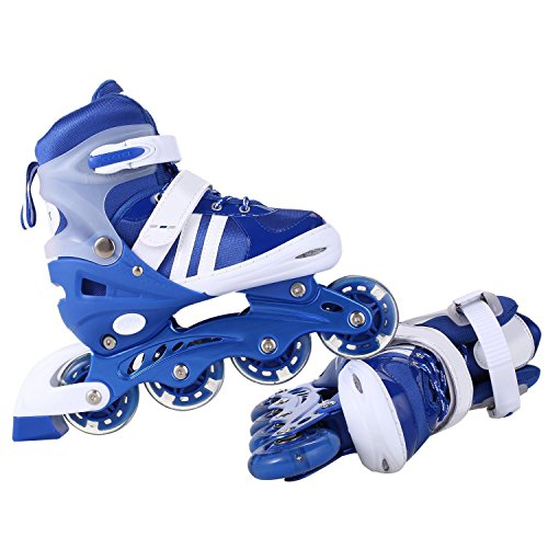 Mewalker Inline Skates Aluminum Breathable Mesh Inline Skates Adjustable Rollerblades for Unisex Kids and Adults US Stock