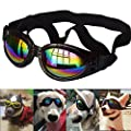 Collapsible Dog Sunglasses Eyewear Protection Waterproof Pet Goggles for A Variety of Dogs About Over 15 lbs from Hilda Sophy