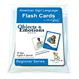 ASL Flash Cards - Learn Signs for Objects & Emotions with Vinyl Storage Pouch - English, Spanish and American Sign Language (American Sign Language Flash Cards) (English and Spanish Edition)