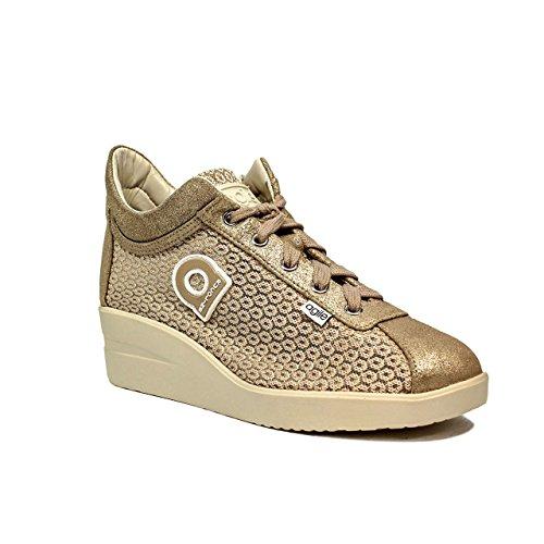 226 tissu Rucoline Sneakers Suède Agile Femme Doré A By Argent PASqEBf
