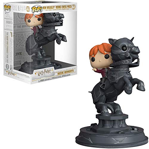 Funko Ron Weasley Riding Chess Piece: Harry Potter x POP! Movie Moment Vinyl Figure + 1 Official Harry Potter Trading Card Bundle [#082 / 35518]