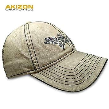 63cb163db9638 Amazon.com   AKIZON Mens Hats Baseball Cap with Fish Bones - Fishing Hat  for Men