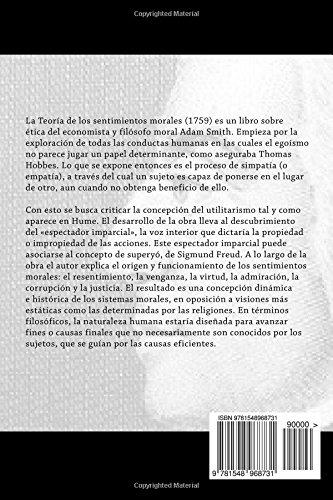 La Teoria de los Sentimientos Morales (Spanish Edition): Adam Smith: 9781548968731: Amazon.com: Books