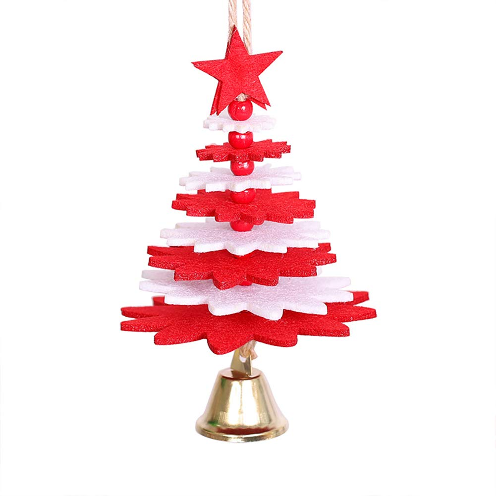 3D Christmas Tree Ornaments Wind Chime Hanging Bell Non-woven Decoration for Home Door Window Decor - Green Ouken