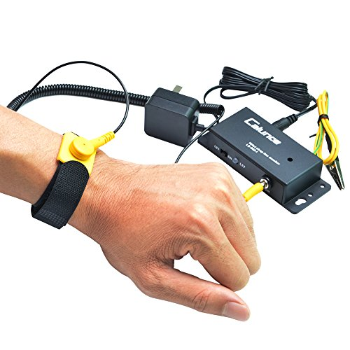 Calunce Anti static Wrist Strap Online Monitor Workstation Monitor with Singel Wire ESD Wrist Straps (802-1, ()