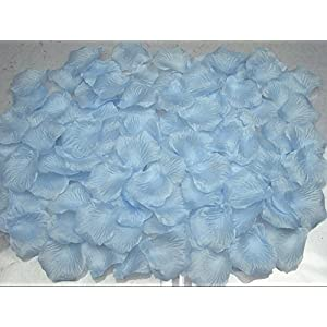 Hitele Bestmall1000pcs New red Simulation Rose Petals Artificial Flowers for Wedding Party Decoration (Light-Blue) 101