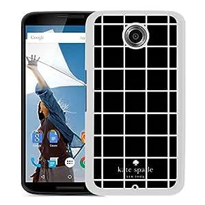 Unique Designed Kate Spade Cover Case For Google Nexus 6 White Phone Case 5