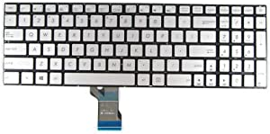 New Keyboard for Asus UX501 UX501J UX501JW UX501V UX501VW 0KNB0-662DUS00 with Backlit US Silver