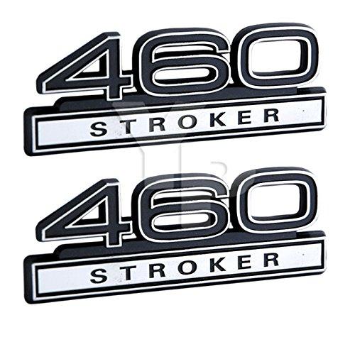 460 Stroker 7.5 Liter Engine Emblems in Chrome & Black Trim - 4