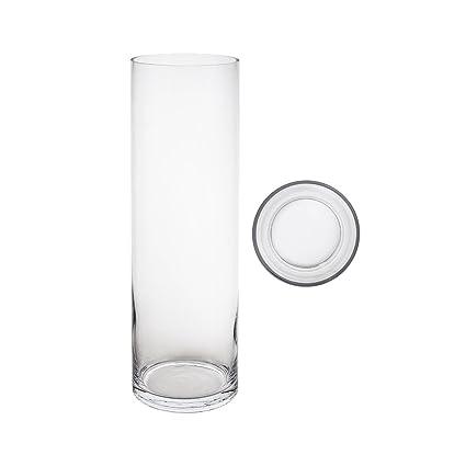 Amazon Mega Vases 5 X 20 Cylinder Glass Vase Set Of 1