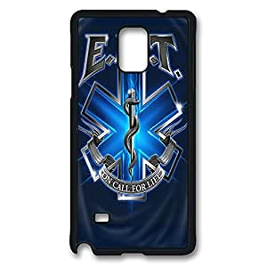 Fashionable EMT EMS Medical Rescue DIY Design Printed Protective Hard Case Cover for Samsung Galaxy Note 4 - One Piece Back Case Shell Black 022604