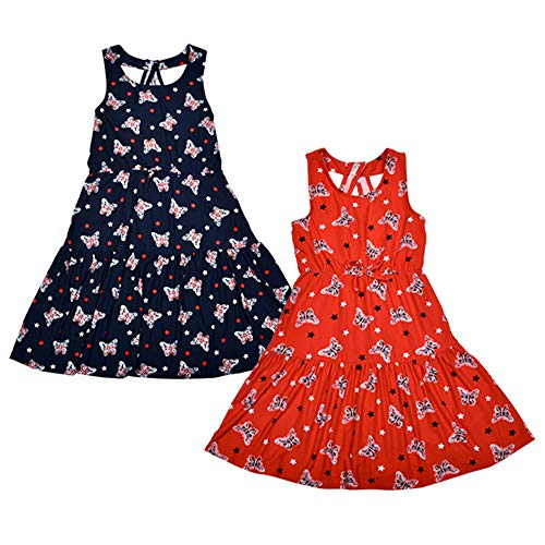 (Star Ride Girls 2-Pack Summer Dresses with Ruffle Style )