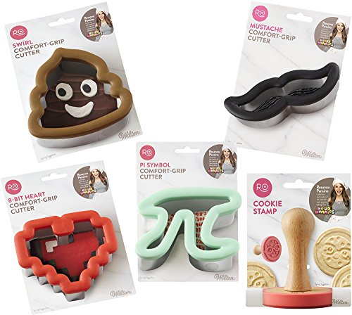 Rosanna Pansino Nerdy Nummies Crazy for Cookies Set by Wilton (Monster Cookie Inc Cutter)