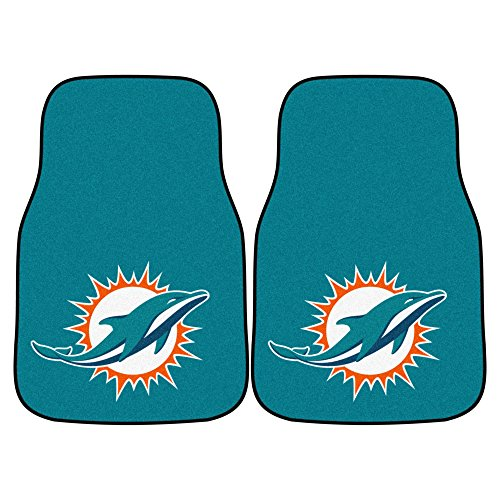 - FANMATS NFL Miami Dolphins Nylon Face Carpet Car Mat