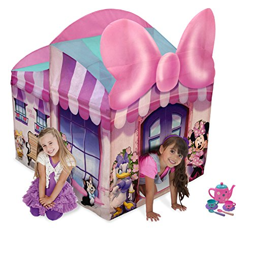 (Playhut Minnie Mouse Cottage with Tea Set, Pink)