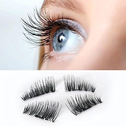 7c423919b39 Amazon.com: False Eyelashes,Lisingtool Ultra-thin 0.2mm Magnetic Eye Lashes  3D Mink Reusable False Magnet Eyelashes Extension (Black): LC Beauty Ltd