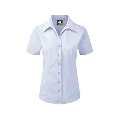 e0132b925 ORN Clothing Ladies Short Sleeve Work Shirt (Sizes 6-30) Formal Office  Collar Blouse: Amazon.co.uk: Clothing
