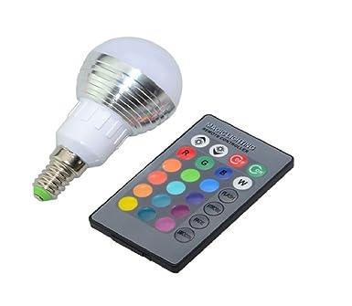 Farbwechselnde Glühbirne LED-Lampe RGB inkl. Fernbedienung 16 Farben ...