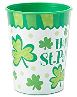 American Greetings 5120948 St. Patrick's Day 16 oz. Plastic Cup, Party Supplies, Green