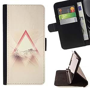 For Samsung ALPHA G850 Case , Dios Religiosa Nubes Triangle Sun Ray- la tarjeta de Crédito Slots PU Funda de cuero Monedero caso cubierta de piel