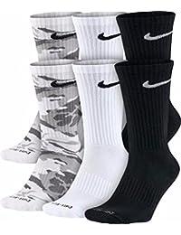 Dri-FIT Crew Socks (Medium/6 Pairs) Black/White Size Medium