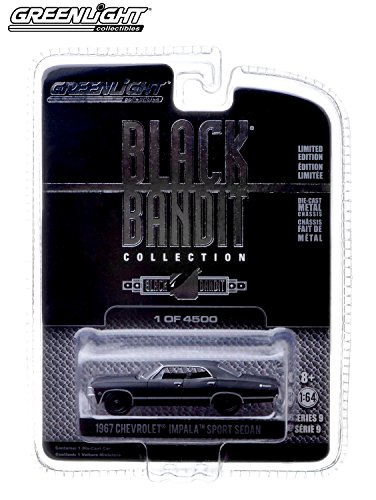 1967 CHEVROLET IMPALA SPORT SEDAN Black Bandit Collection Series 9 Limited Edition 2014 Greenlight Collectibles 1:64 Scale Vehicle Die-Cast (1 of only 4,500 Pieces)