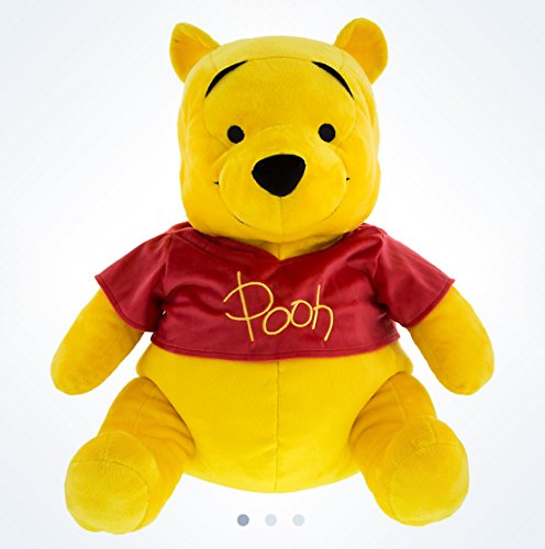 (Disney Parks Winnie the Pooh Hunny Pot Reversible Flip Plush Pillow Doll NEW)