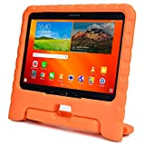 Samsung Galaxy Tab 4 10.1 & Tab 3 10.1 kids case, COOPER DYNAMO Rugged Heavy Duty Children Boys Girls Drop Proof Protective Case Cover Handle, Stand SM-T530 T531 T535 GT-P5200 P5210 P5220 Orange